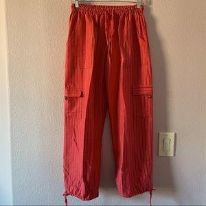 New vintage reddish pink striped pants